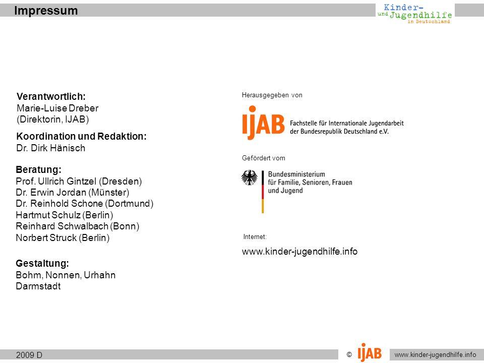 Impressum Verantwortlich: Marie-Luise Dreber (Direktorin, IJAB)