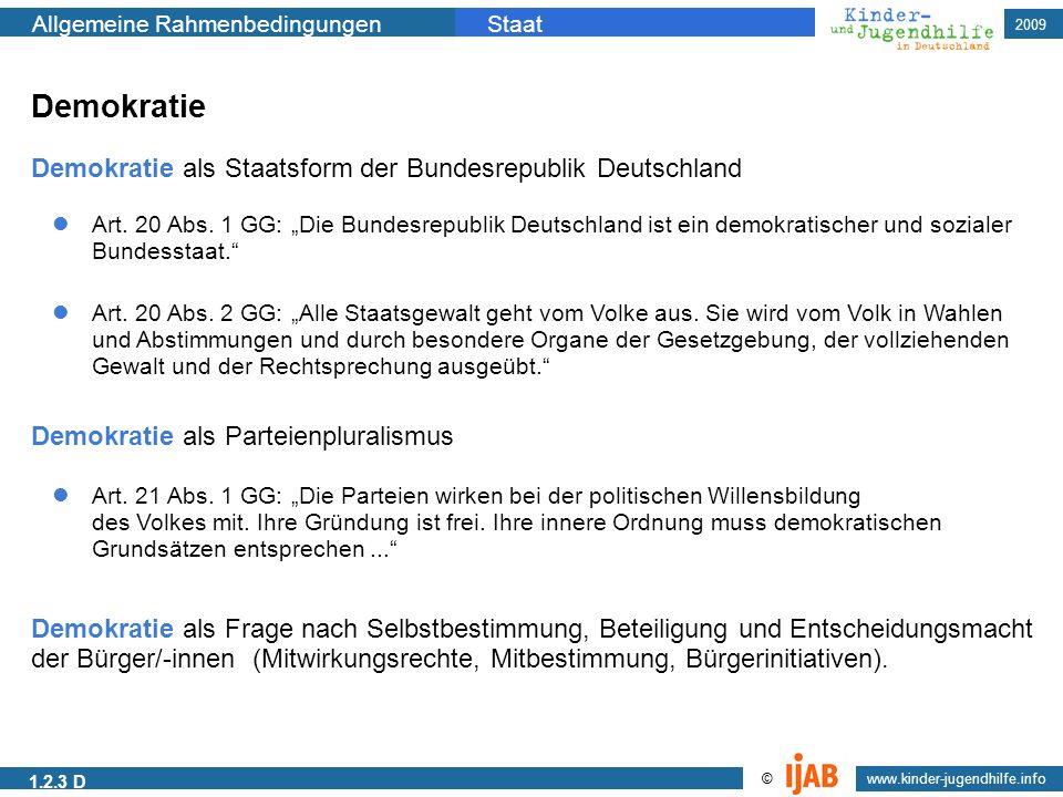 Demokratie Demokratie als Staatsform der Bundesrepublik Deutschland