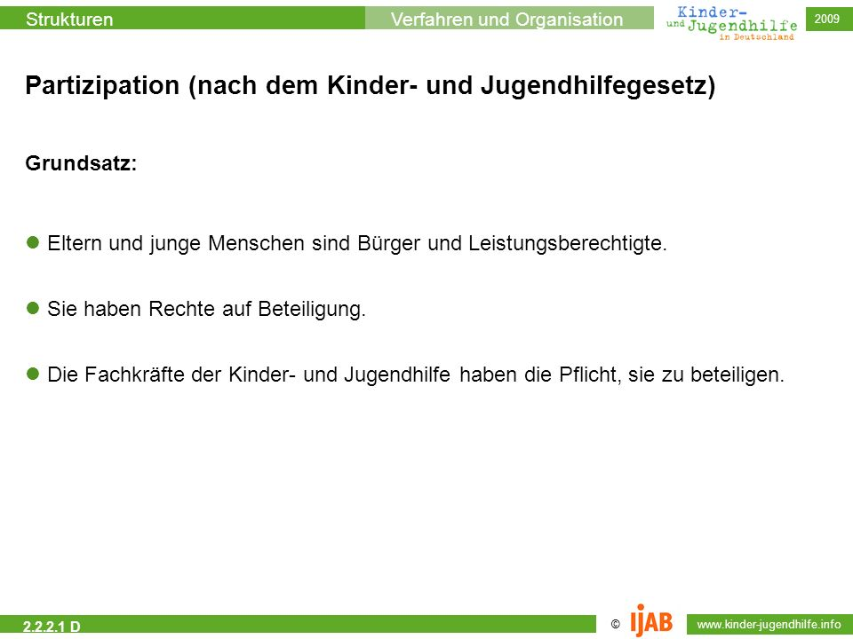 Partizipation (nach dem Kinder- und Jugendhilfegesetz)