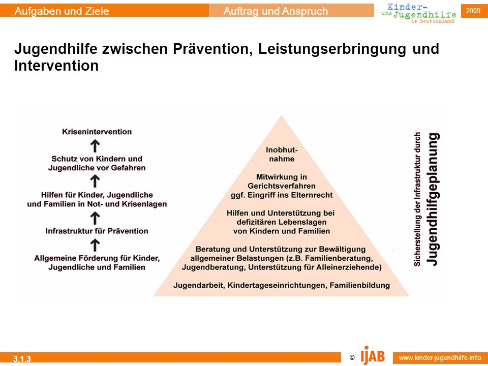 Jugendhilfe zwischen Prävention, Leistungserbringung und Intervention