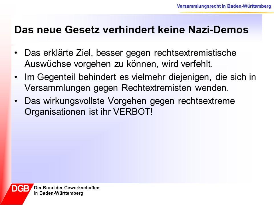 Das neue Gesetz verhindert keine Nazi-Demos