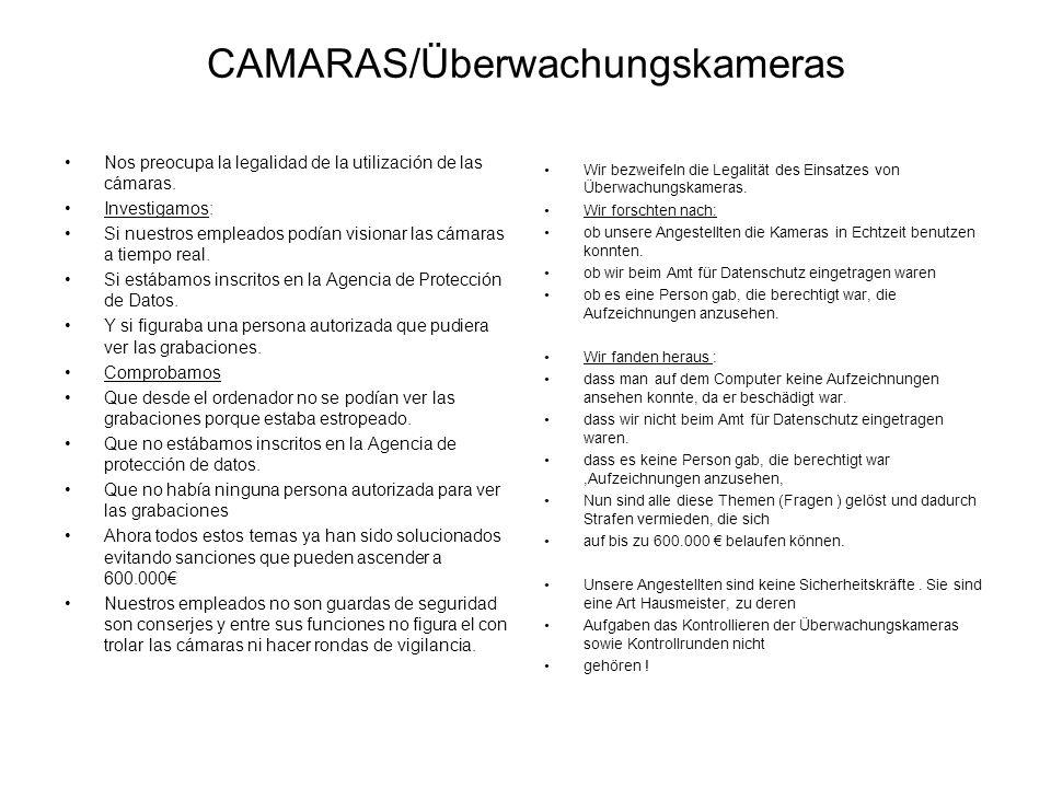 CAMARAS/Überwachungskameras