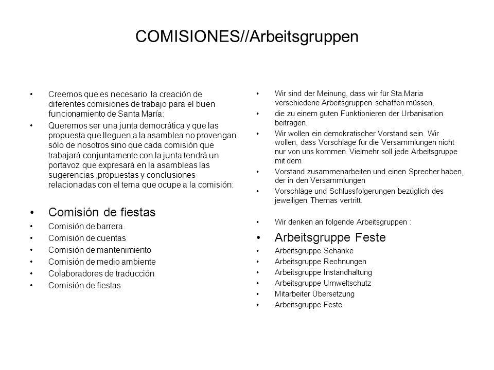 COMISIONES//Arbeitsgruppen