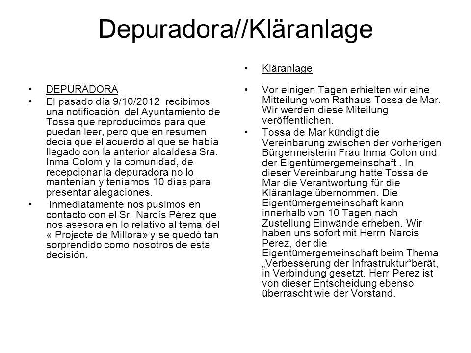 Depuradora//Kläranlage