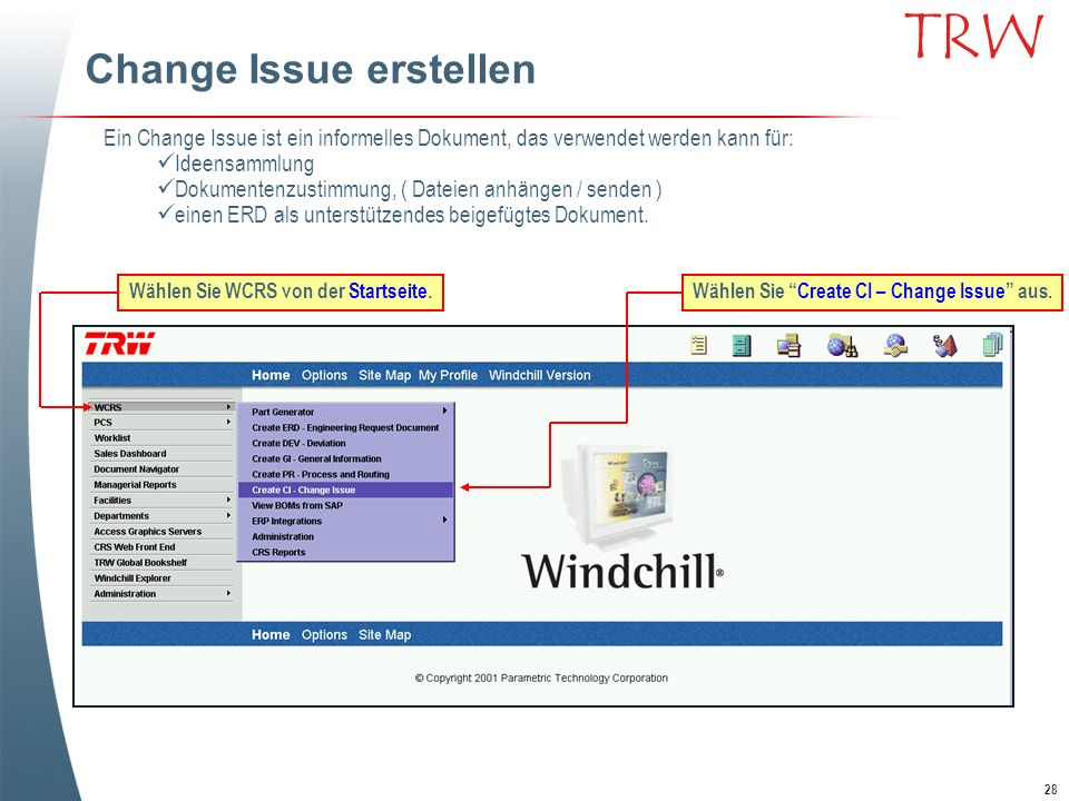 Change Issue erstellen