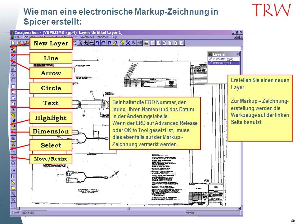 Wie man eine electronische Markup-Zeichnung in Spicer erstellt: