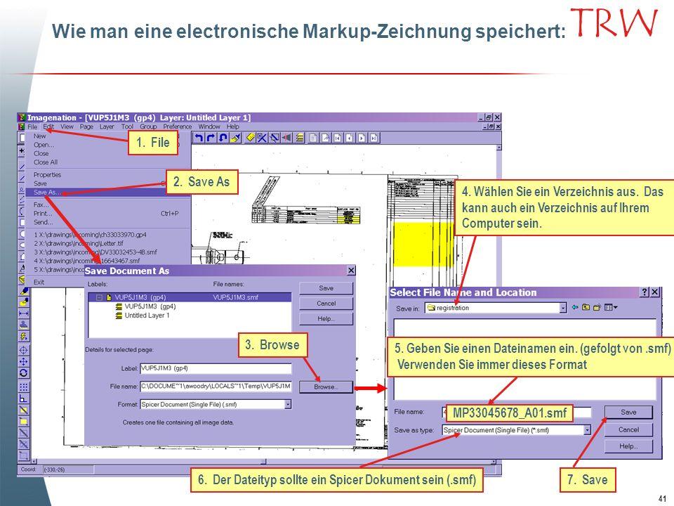 6. Der Dateityp sollte ein Spicer Dokument sein (.smf)