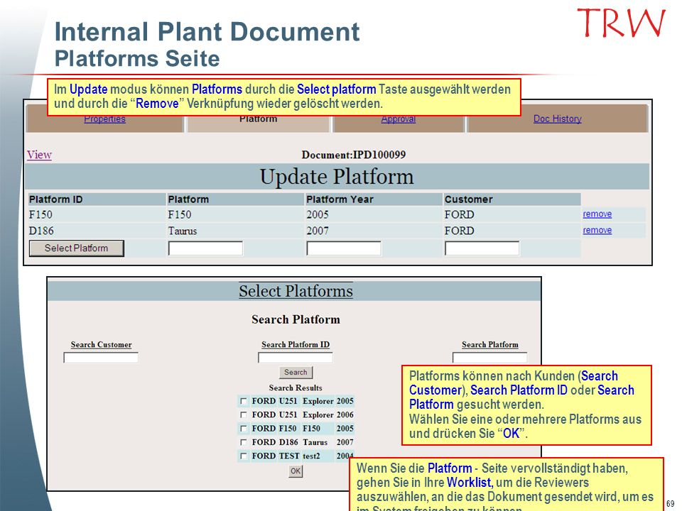 Internal Plant Document Platforms Seite