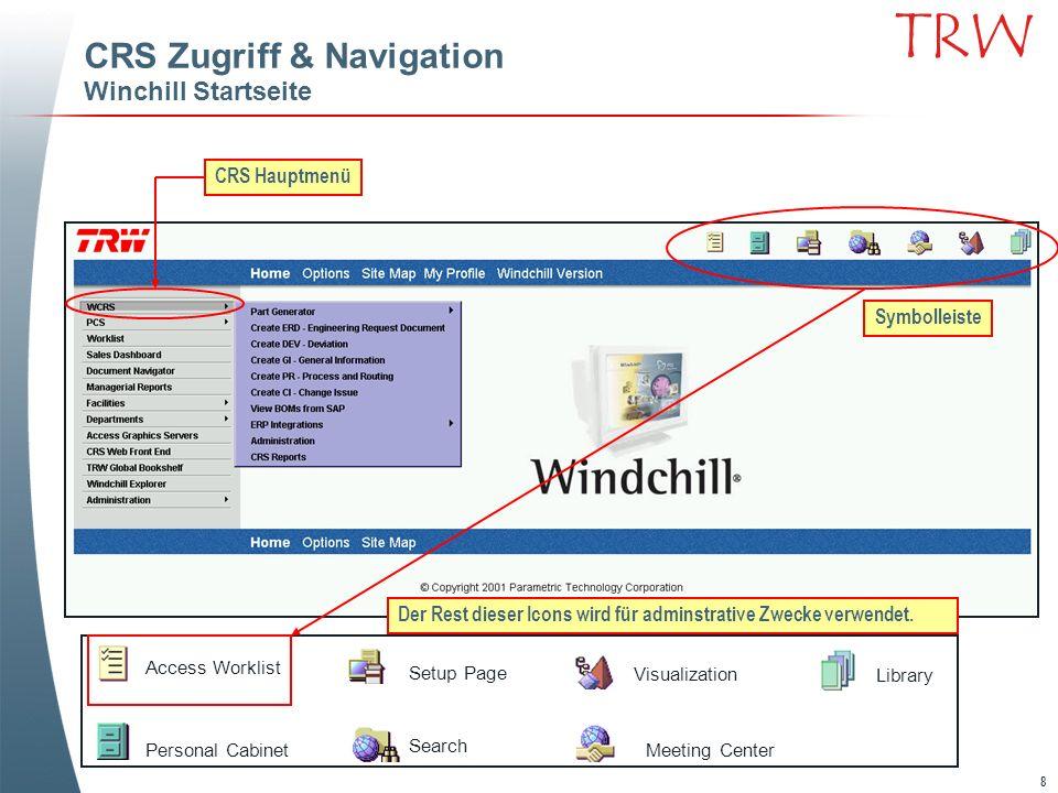CRS Zugriff & Navigation Winchill Startseite