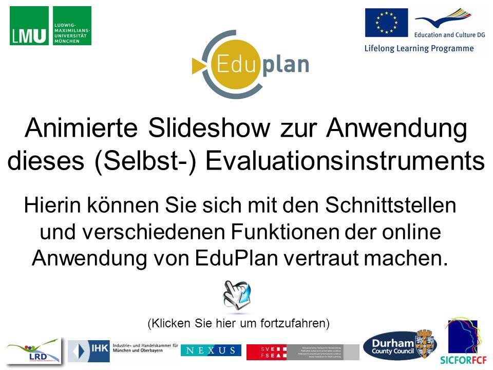 Animierte Slideshow zur Anwendung dieses (Selbst-) Evaluationsinstruments