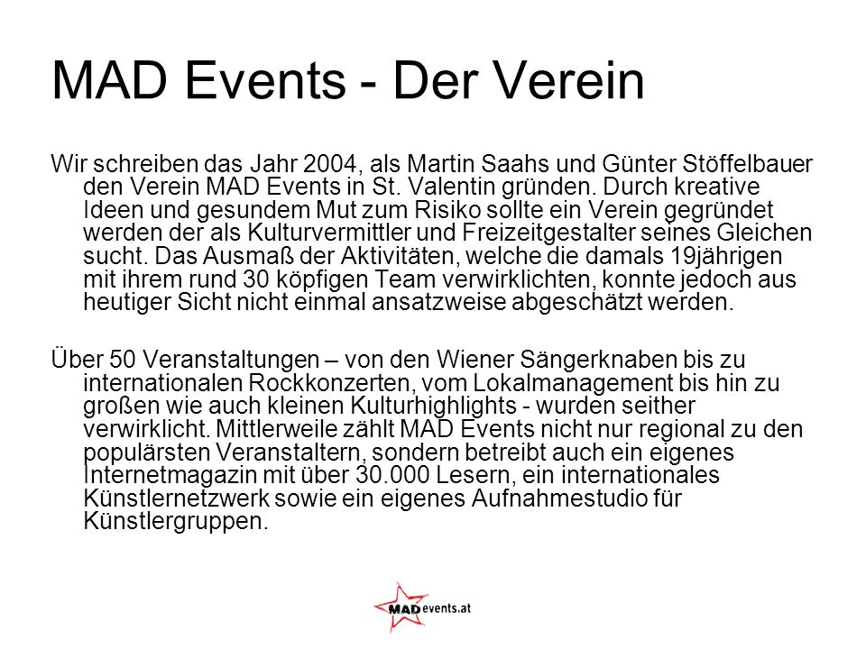 MAD Events - Der Verein