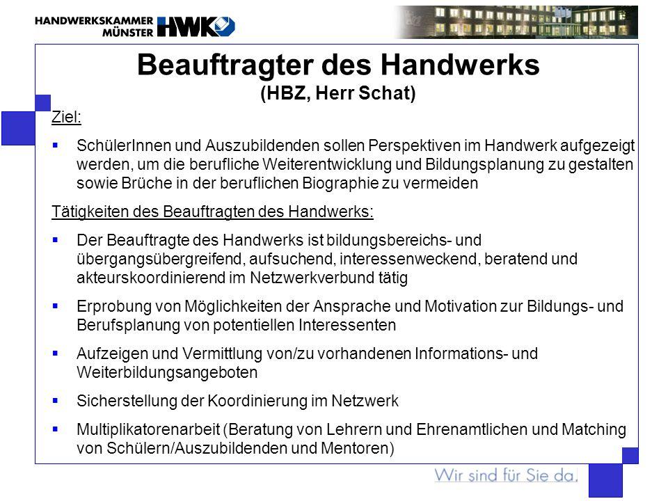 Beauftragter des Handwerks (HBZ, Herr Schat)