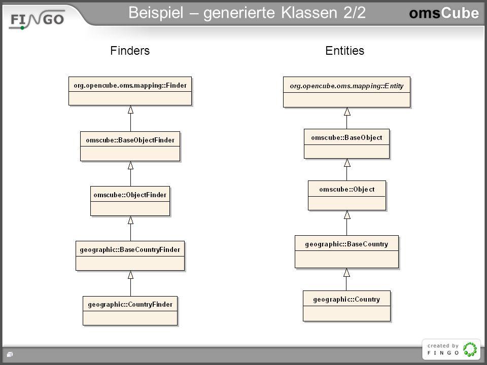 Beispiel – generierte Klassen 2/2