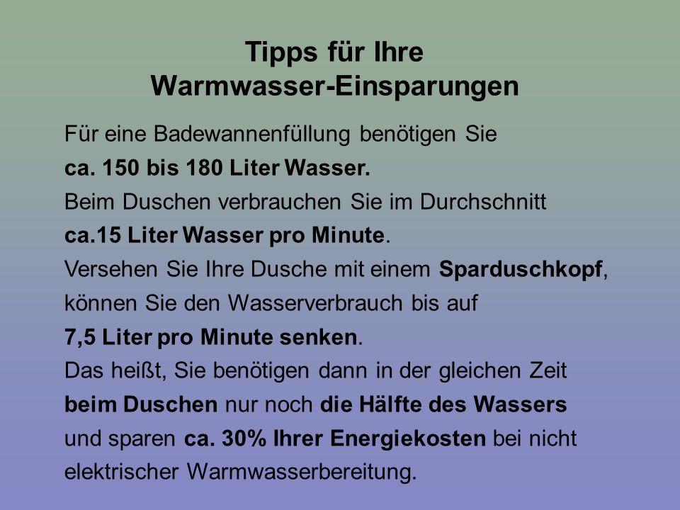 Warmwasser-Einsparungen