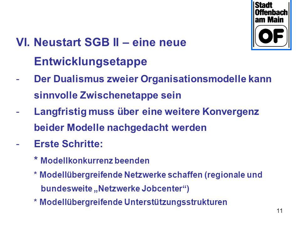 VI. Neustart SGB II – eine neue Entwicklungsetappe