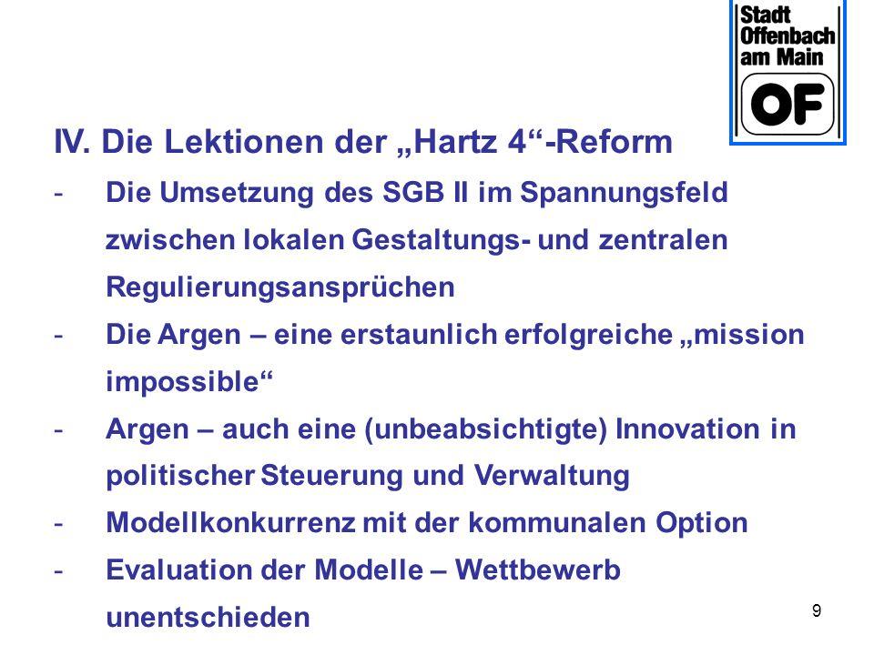 """IV. Die Lektionen der """"Hartz 4 -Reform"""