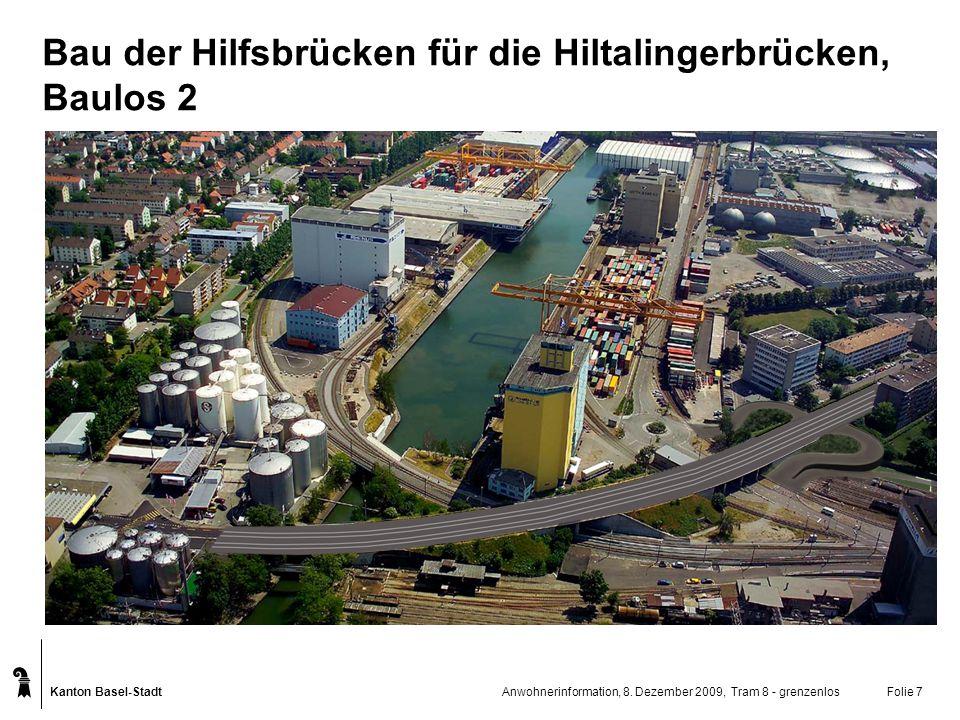 Bau der Hilfsbrücken für die Hiltalingerbrücken, Baulos 2