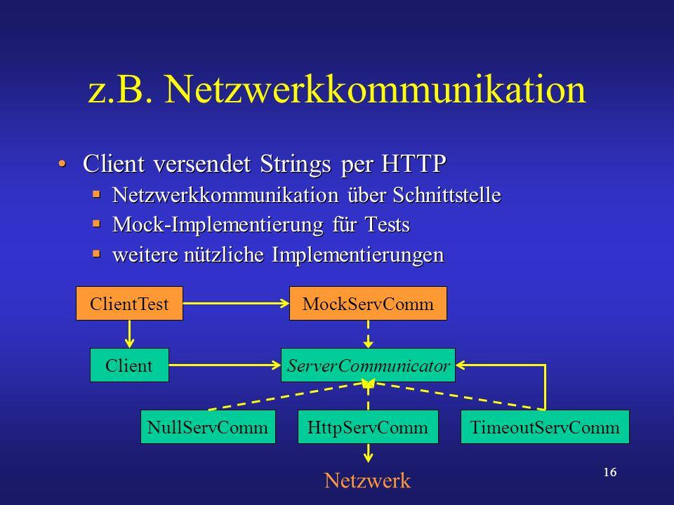 z.B. Netzwerkkommunikation