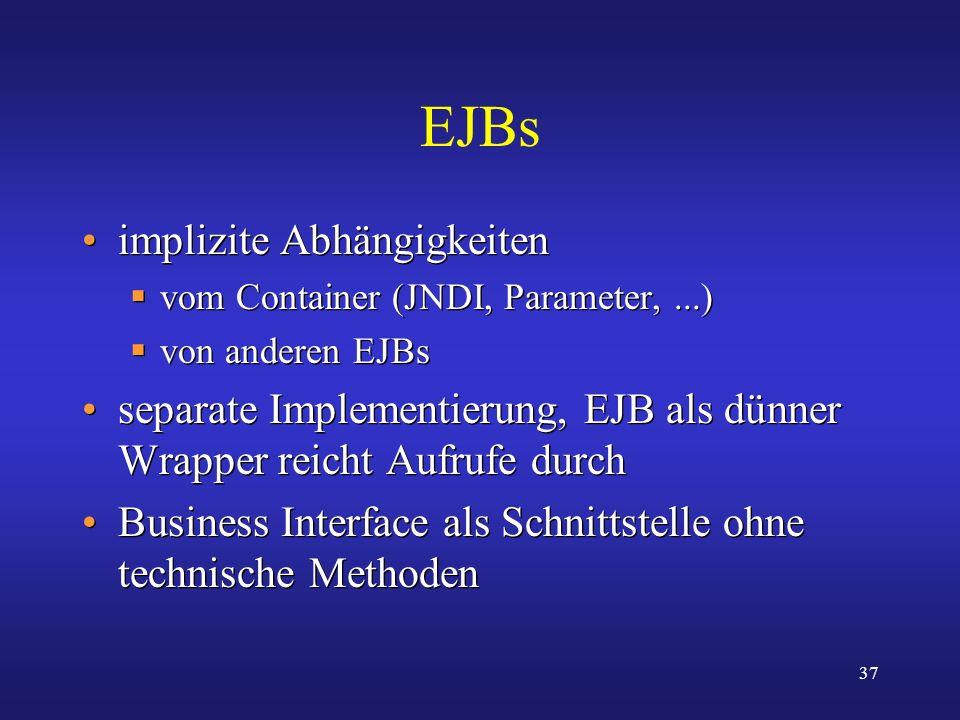 EJBs implizite Abhängigkeiten