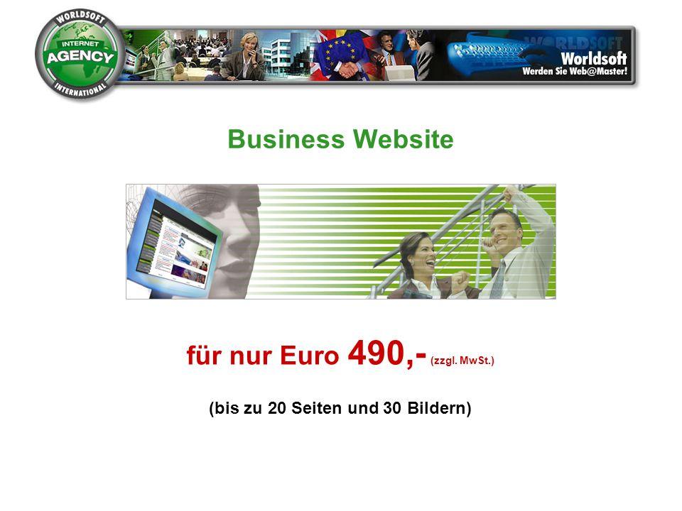 für nur Euro 490,- (zzgl. MwSt.) (bis zu 20 Seiten und 30 Bildern)
