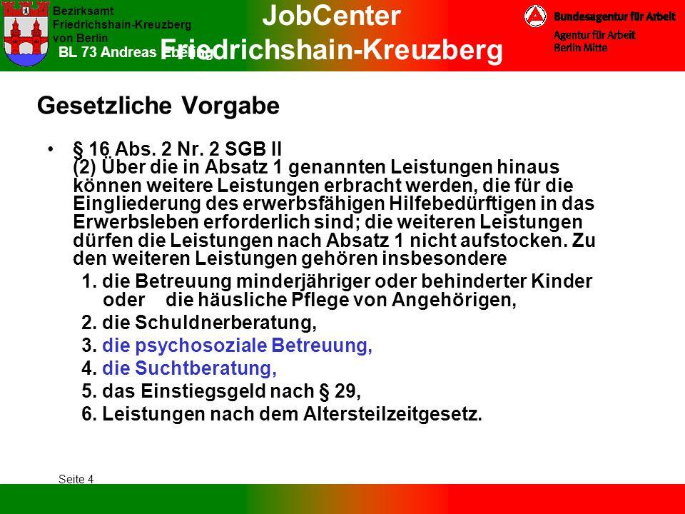 BL 73 Andreas Ebeling Gesetzliche Vorgabe.