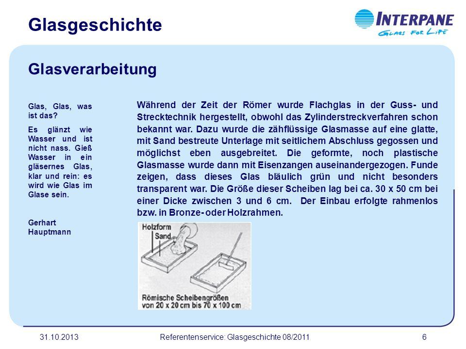 Referentenservice: Glasgeschichte 08/2011