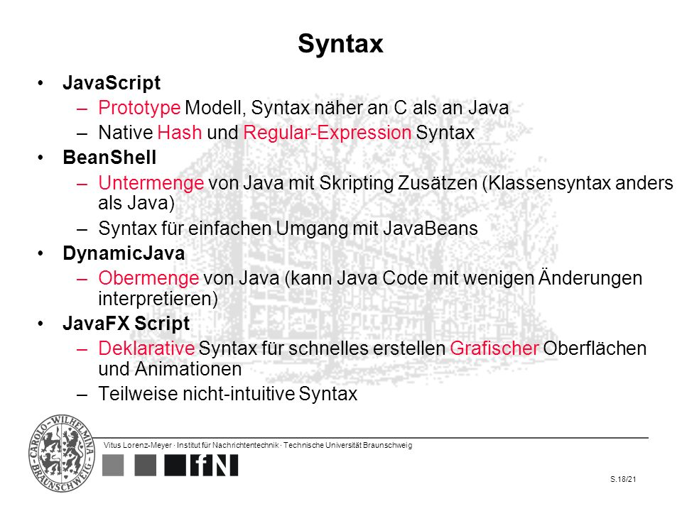 Syntax JavaScript Prototype Modell, Syntax näher an C als an Java