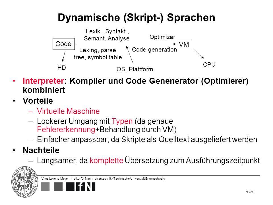 Dynamische (Skript-) Sprachen