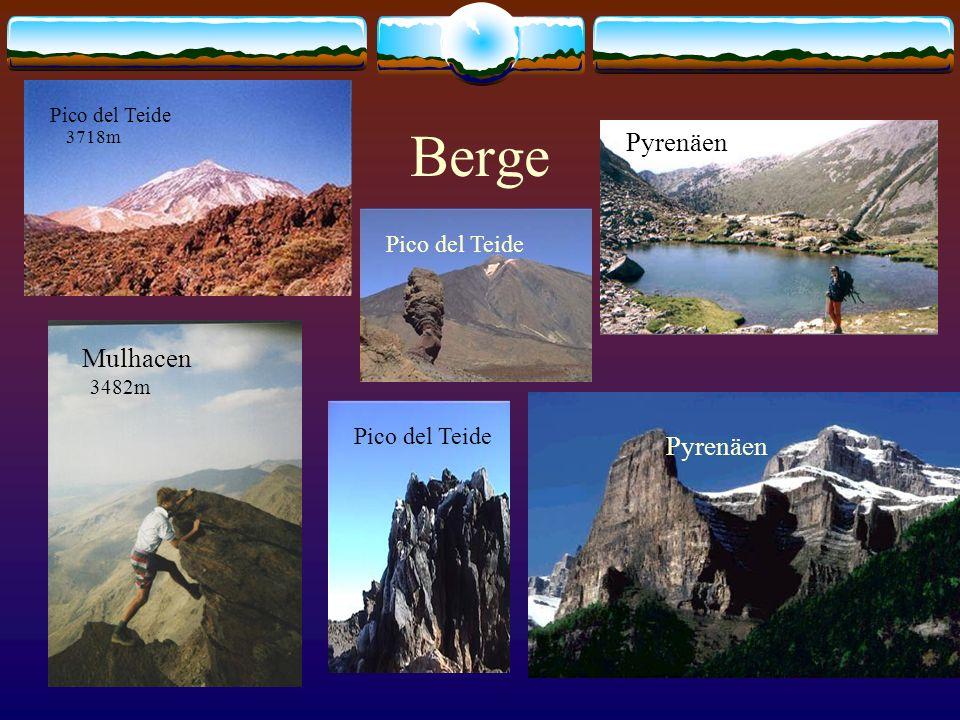 Berge Pyrenäen Mulhacen Pyrenäen Pico del Teide Pico del Teide