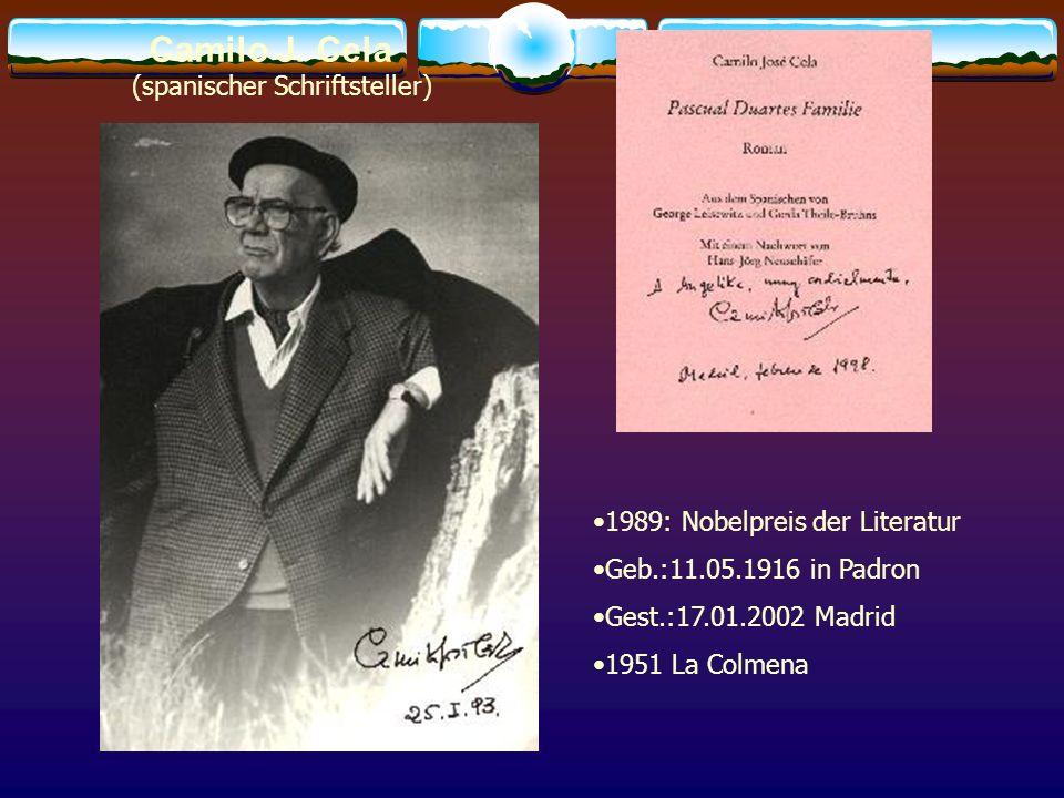 Camilo J. Cela (spanischer Schriftsteller)