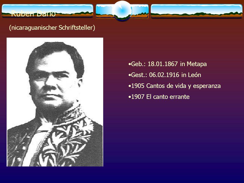 Ruben Dario (nicaraguanischer Schriftsteller)