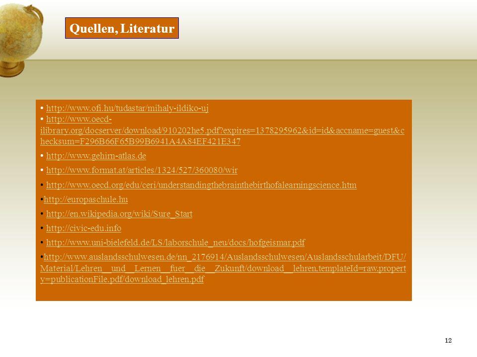 Quellen, Literatur http://www.ofi.hu/tudastar/mihaly-ildiko-uj