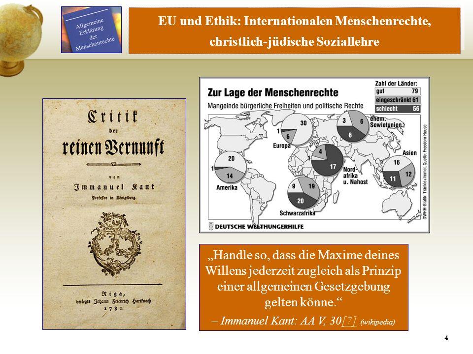 EU und Ethik: Internationalen Menschenrechte,