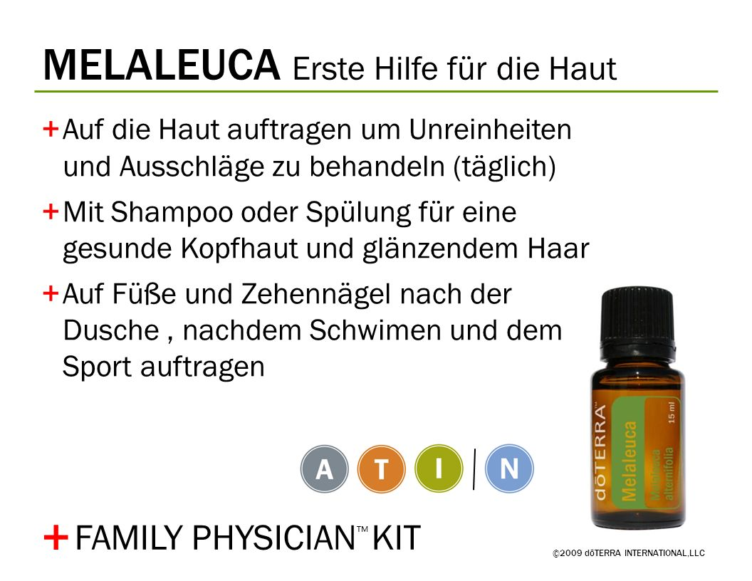 + MELALEUCA Erste Hilfe für die Haut FAMILY PHYSICIAN™ KIT