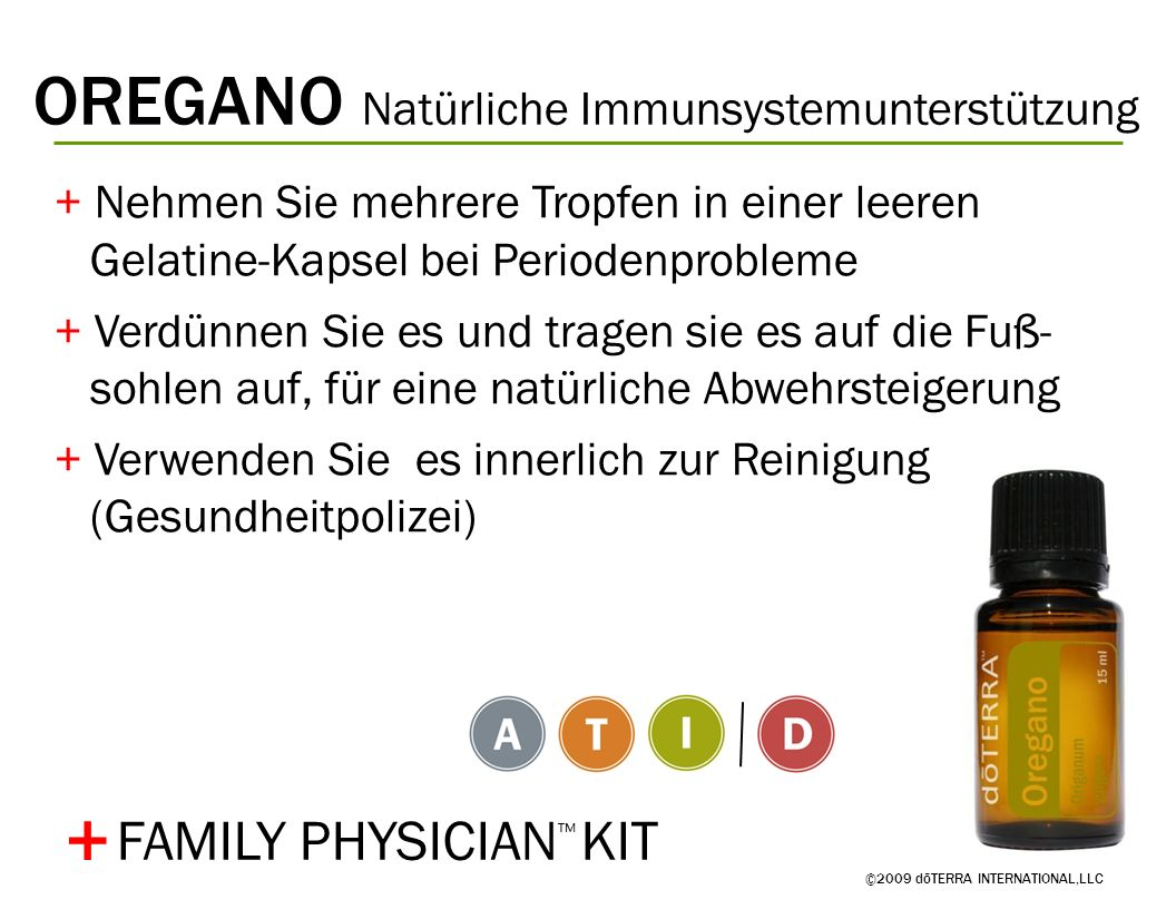 + OREGANO Natürliche Immunsystemunterstützung FAMILY PHYSICIAN™ KIT