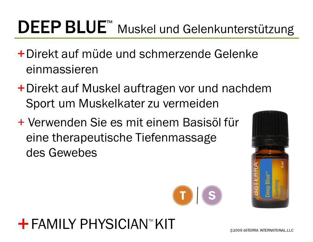 + DEEP BLUE™ Muskel und Gelenkunterstützung FAMILY PHYSICIAN™ KIT