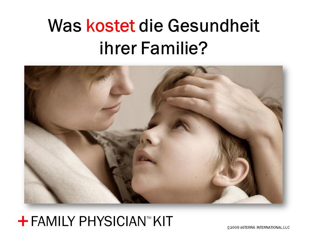 Was kostet die Gesundheit ihrer Familie