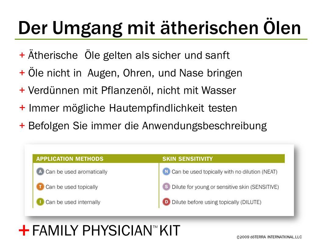 + Der Umgang mit ätherischen Ölen FAMILY PHYSICIAN™ KIT