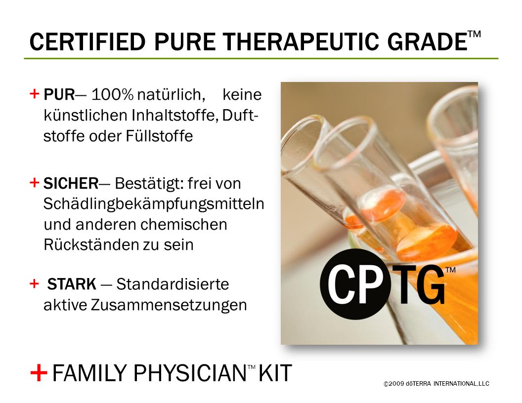 + CERTIFIED PURE THERAPEUTIC GRADE™ FAMILY PHYSICIAN™ KIT