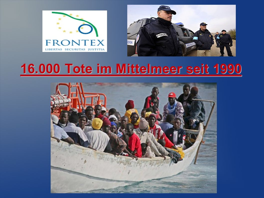 16.000 Tote im Mittelmeer seit 1990