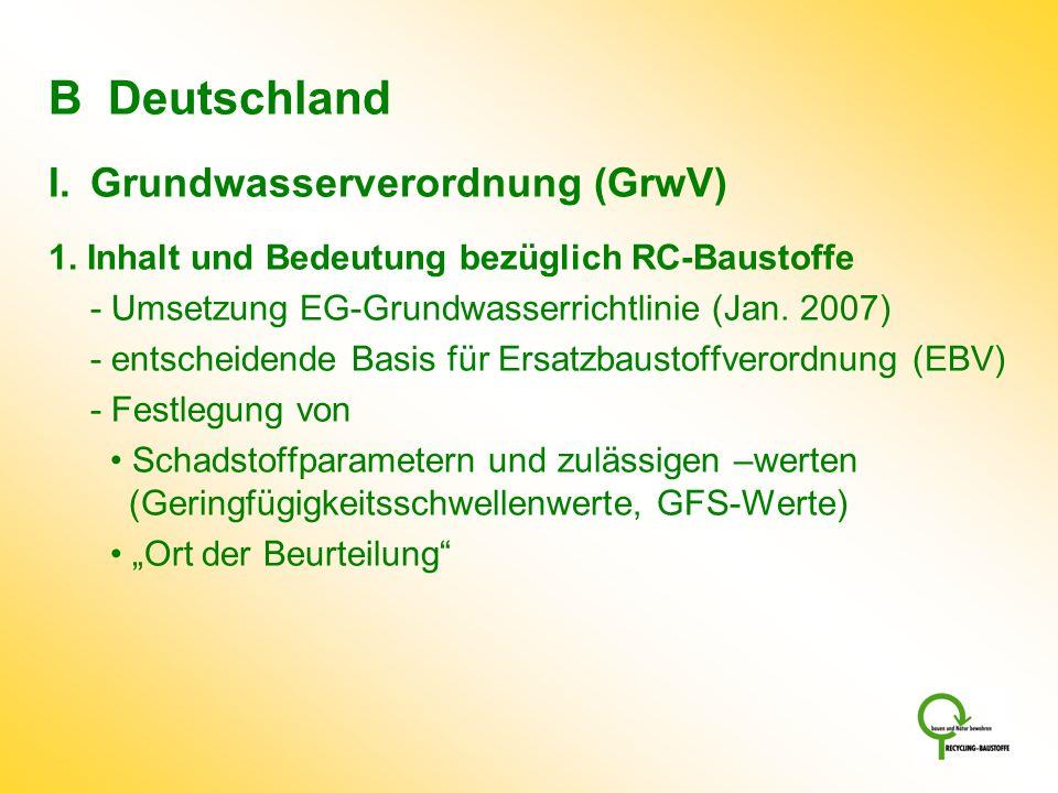 B Deutschland Grundwasserverordnung (GrwV)