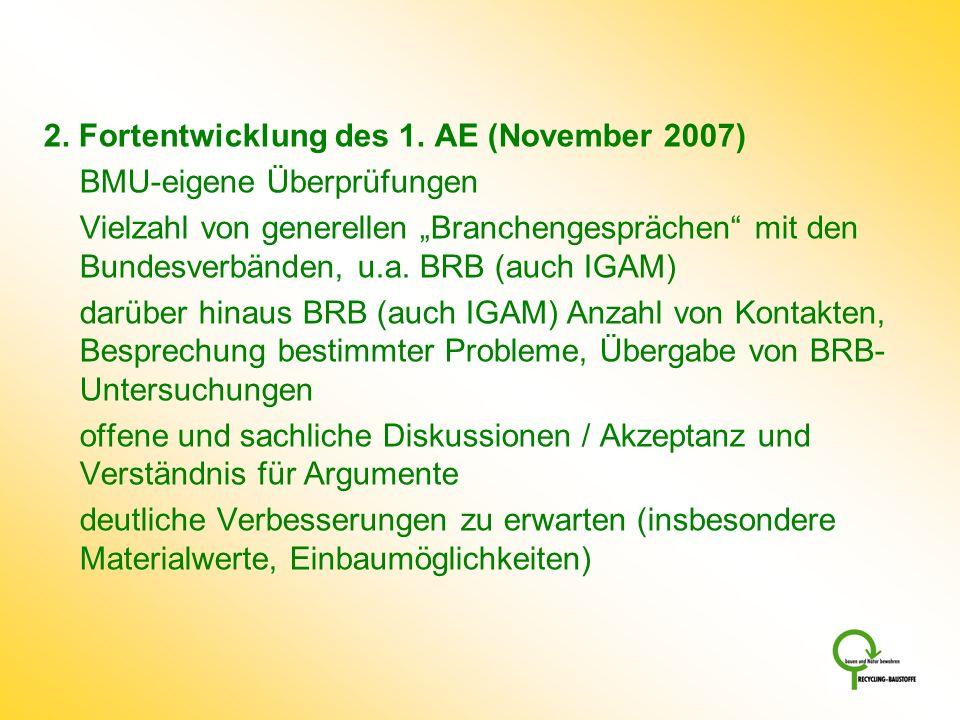 2. Fortentwicklung des 1. AE (November 2007)
