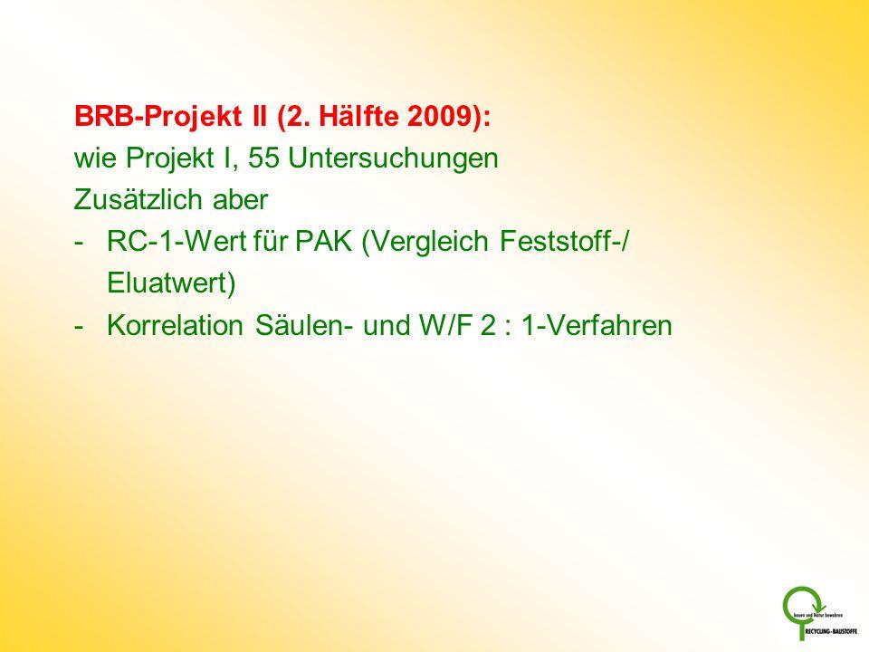 BRB-Projekt II (2. Hälfte 2009):