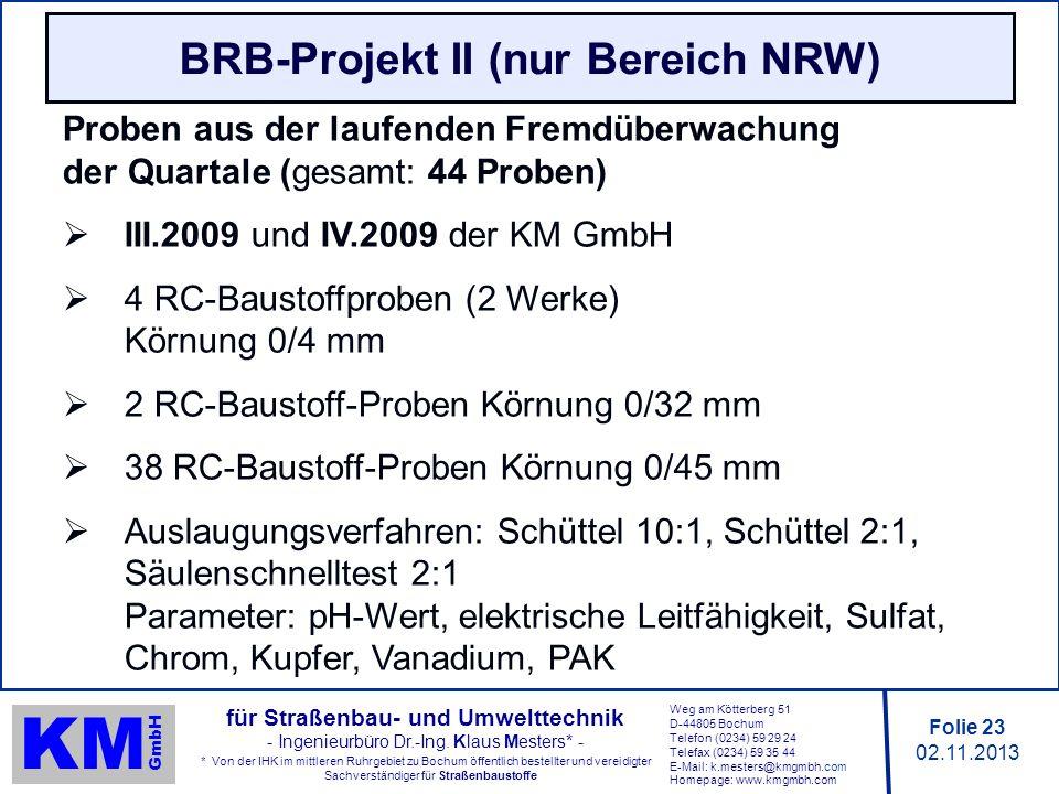 BRB-Projekt II (nur Bereich NRW)