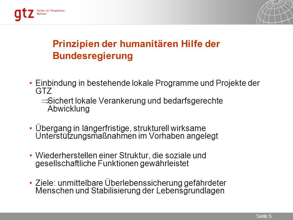 Prinzipien der humanitären Hilfe der Bundesregierung