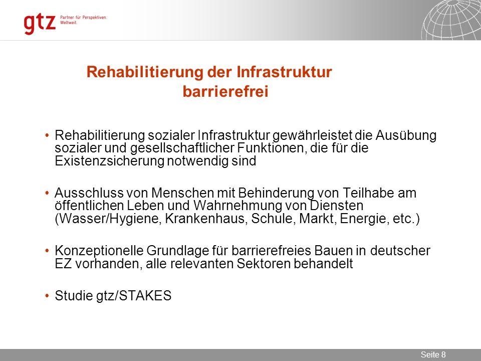 Rehabilitierung der Infrastruktur barrierefrei