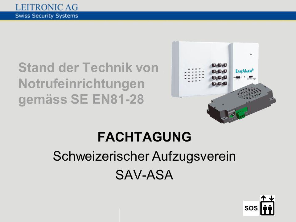 Stand der Technik von Notrufeinrichtungen gemäss SE EN81-28