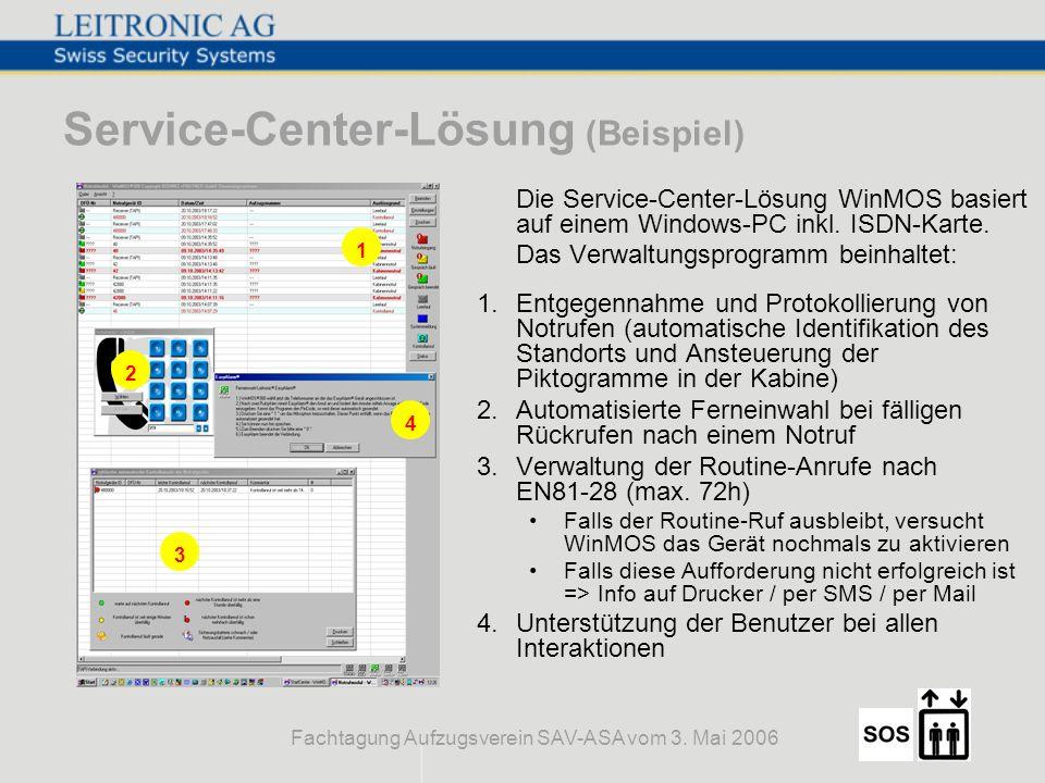 Service-Center-Lösung (Beispiel)
