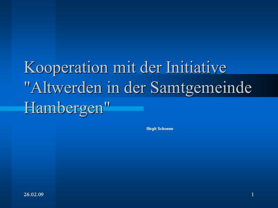 Kooperation mit der Initiative Altwerden in der Samtgemeinde Hambergen