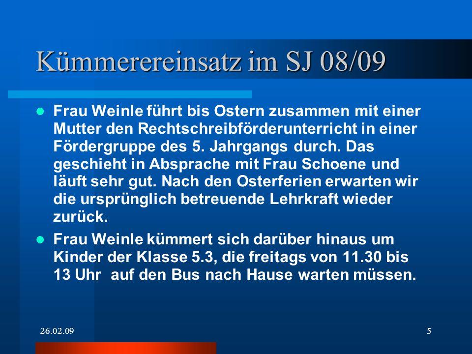 Kümmerereinsatz im SJ 08/09